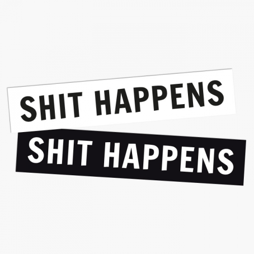 Bumper Sticker «SHIT HAPPENS»