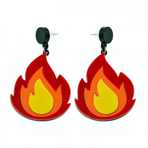 Earrings «BURN»