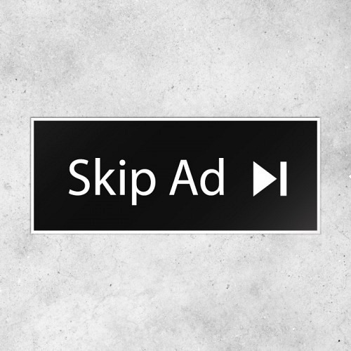Sticker «SKIP AD»