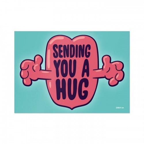 Postcard «HUG»