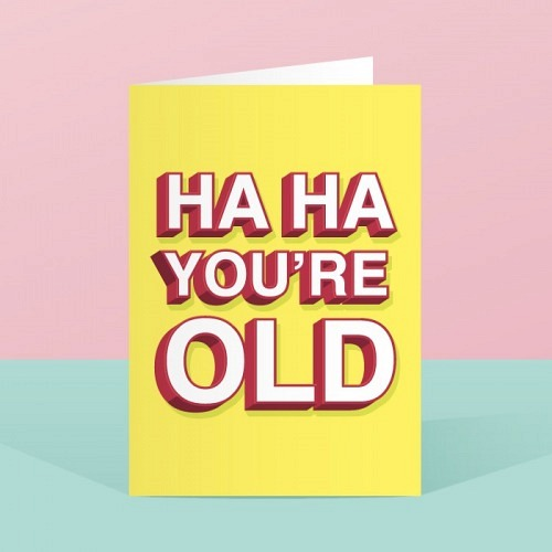 Birthday card «HAHA»