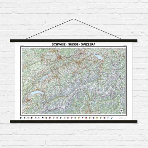 Wall map «SWITZERLAND»